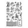 Набор акриловых штампов Christmas clear stamp, Stampendous,24 шт, размер 11.5х19.5 см, SSC1183