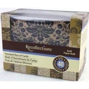 Заготовки для открыток с конвертом, 10 штук,  Recollections
