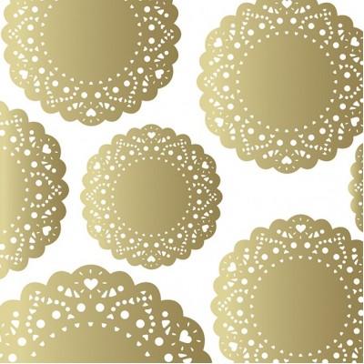 Веллум-калька с золотым ажурными орнаментом